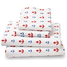 anchor-sheet-set-red-light-blue Anchor Bedding Sets and Anchor Comforter Sets