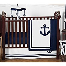 anchors-away-4pc-baby-boy-bedding Anchor Bedding Sets and Anchor Comforter Sets