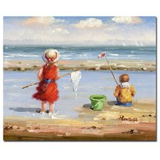 at-the-beach-2-painting-print Beach Paintings and Coastal Paintings