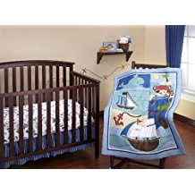 baby-buccaneer-3-piece-pirate-crib-bedding-set Nautical Crib Bedding and Beach Crib Bedding