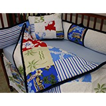 beach-baby-5-piece-crib-bedding-set 50+ Surf Bedding and Surf Comforter Sets