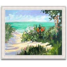 beach-framed-painting-print Beach Paintings and Coastal Paintings