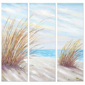 beach-shore-grass-3-piece-canvas-art-set Beach Paintings and Coastal Paintings