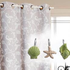Beach Shower Curtain Hooks