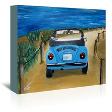 blue-volkswagen-beach-painting-on-canvas Beach Paintings and Coastal Paintings