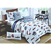 boat-house-reversible-ships-pirate-boat-quilt Pirate Bedding Sets and Pirate Comforter Sets