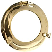 brass-porthole-mirror 100+ Porthole Themed Mirrors For Nautical Homes For 2020