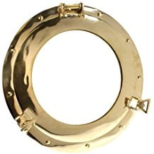 brass-porthole-mirror Porthole Themed Mirrors