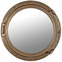 bronze-diameter-wall-mount-mirror 100+ Porthole Themed Mirrors For Nautical Homes For 2020