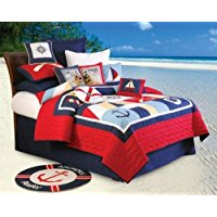 c-and-f-enterprises-sail-away-anchor-quilt Nautical Bedding Sets & Nautical Bedspreads