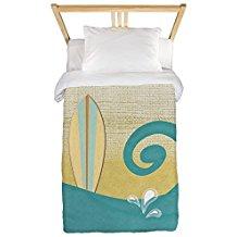 cafepress-sandy-beach-surfboard-duvet-cover Surf Bedding Sets & Surf Comforter Sets