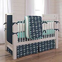 carousel-designs-teal-anchor-crib-bedding-set Anchor Bedding Sets and Anchor Comforter Sets
