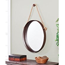circle-mirror-with-rope Rope Mirrors and Rope Hanging Mirrors