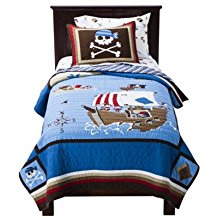 circo-cotton-pirate-ship-quilt Pirate Bedding Sets and Pirate Comforter Sets