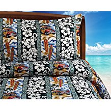 dean-miller-surf-bedding-king-size-woodies Surf Decor & Surfboard Decorations