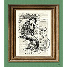 dictionary-page-mermaid-print Mermaid Wall Art and Mermaid Wall Decor