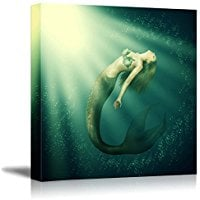fantasy-mermaid-underwater-canvas-art Mermaid Wall Art and Mermaid Wall Decor