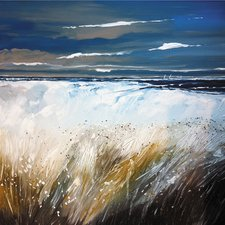 ferns-and-beach-painting-print Beach Paintings and Coastal Paintings
