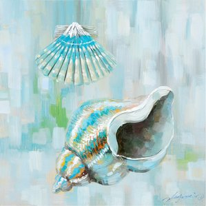 from-the-sea-seashell-oil-painting Beach Paintings and Coastal Paintings
