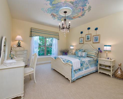 girls-mermaid-bedroom-design Mermaid Bedding Sets and Mermaid Comforter Sets