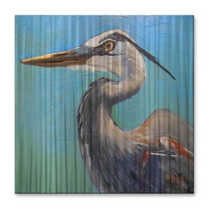great-blue-herron-bird-oil-painting Beach Paintings and Coastal Paintings