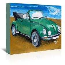 green-bug-at-beach-painting Beach Paintings and Coastal Paintings