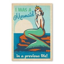 i-was-a-mermaid-in-a-previous-life-vintage-advertisement-art Mermaid Wall Art and Mermaid Wall Decor