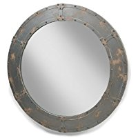 industrial-large-round-porthole-mirror 100+ Porthole Themed Mirrors For Nautical Homes For 2020