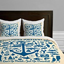 just-go-coastal-deny-designs-anchor-duvet Nautical Bedding Sets & Nautical Bedspreads