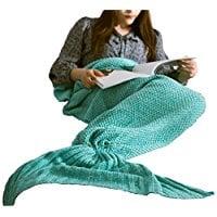 knitted-mermaid-tail-blanket Mermaid Bedding Sets and Mermaid Comforter Sets