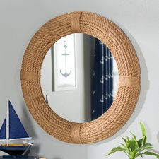 leeward-round-rope-wall-mirror-breakwater-bay Rope Mirrors and Rope Hanging Mirrors