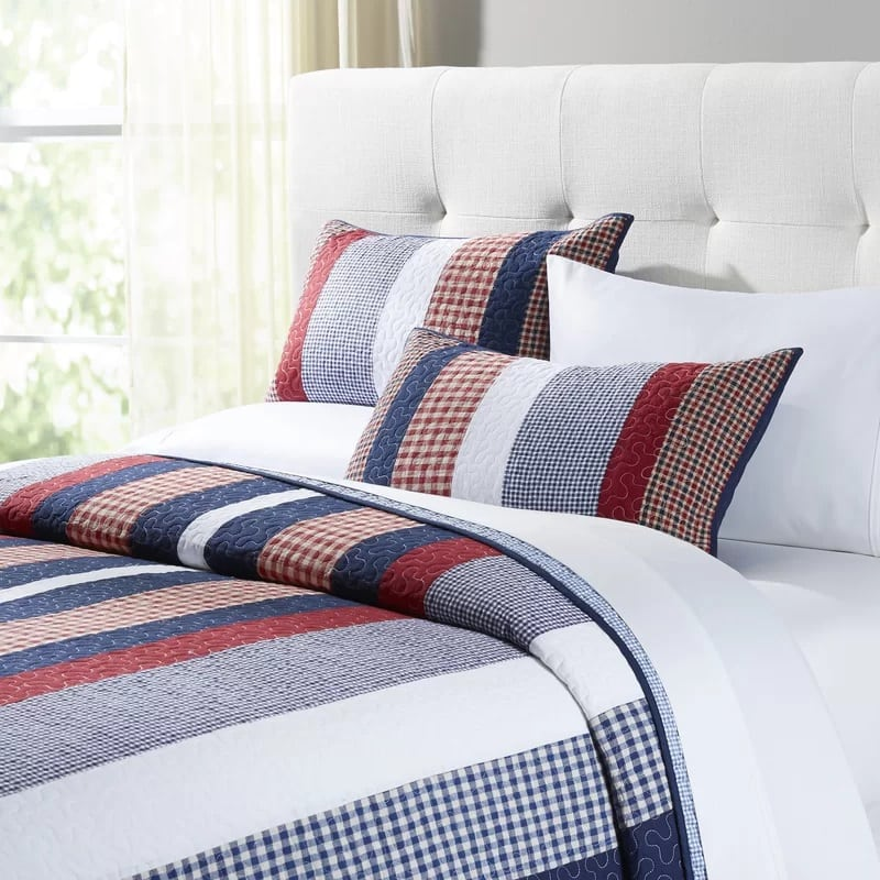 levi-nautical-quilt-by-birch-lane Anchor Bedding Sets and Anchor Comforter Sets
