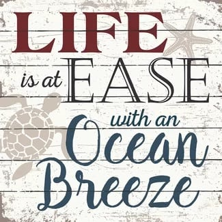 life-is-at-ease-with-an-ocean-breeze The Best Wooden Beach Signs You Can Buy