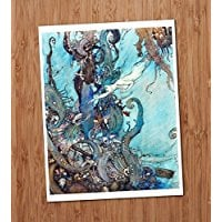 little-mermaid-vintage-art-print Mermaid Wall Art and Mermaid Wall Decor