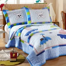 little-pirate-2-piece-twin-quilt-set-1 Pirate Bedding Sets and Pirate Comforter Sets