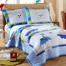 little-pirate-2-piece-twin-quilt-set Pirate Bedding Sets and Pirate Comforter Sets