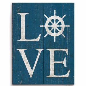 love-textual-art-ship-wheel-wooden-sign- The Best Wooden Beach Signs You Can Buy