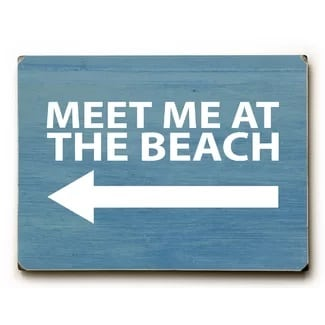 meet-me-at-the-beach-wooden-sign The Best Wooden Beach Signs You Can Buy