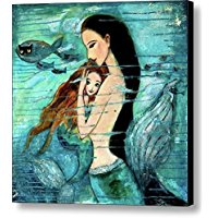 mermaid-canvas-wall-art Mermaid Wall Art and Mermaid Wall Decor