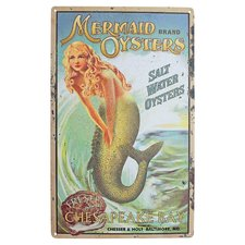 mermaid-oysters-vintage-art Mermaid Wall Art and Mermaid Wall Decor
