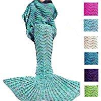 mermaid-tail-blanket-for-kids Mermaid Bedding Sets and Mermaid Comforter Sets