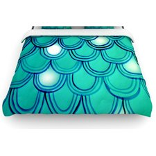 mermaid-tail-woven-duvet-cover Mermaid Bedding Sets and Mermaid Comforter Sets