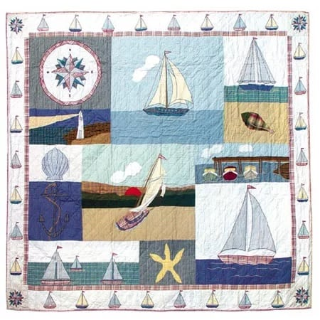 nautical-quilt-by-patch-magic Anchor Bedding Sets and Anchor Comforter Sets