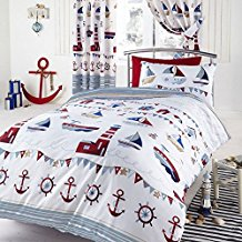 nautical-white-anchor-duvet-cover Nautical Bedding Sets & Nautical Bedspreads