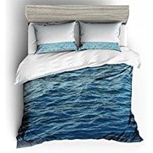 ocean-waves-coastal-waters-duvet-cover-set 50+ Surf Bedding and Surf Comforter Sets