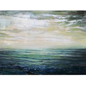oil-painting-print-on-wrapped-canvas-beach-home Beach Paintings and Coastal Paintings