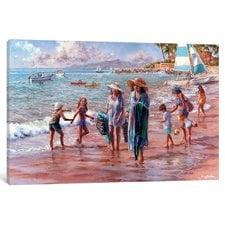 on-the-beach-painting-on-canvas Beach Paintings and Coastal Paintings
