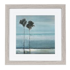 palms-at-the-beach-framed-painting Beach Paintings and Coastal Paintings