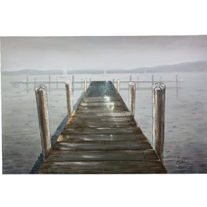 peaceful-pier-oil-painting-on-canvas Beach Paintings and Coastal Paintings