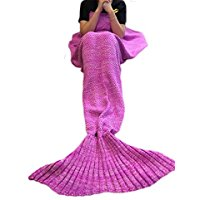 pink-mermaid-tail-blanket Mermaid Bedding Sets and Mermaid Comforter Sets